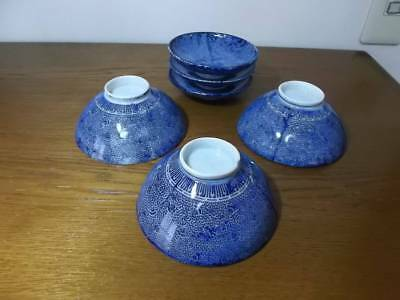 Antique Meiji with lid rice bowl rare beautiful useful EMS F/S*