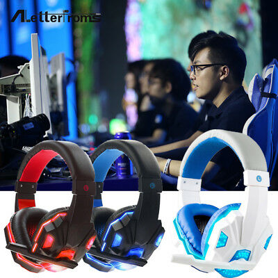 Gaming Headset Stereo Surround Headphone 3.5mm Wired With Mic For PS4/PS3/Laptop