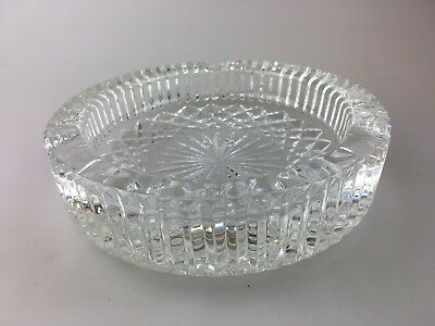 WATERFORD CRYSTAL ASHTRAY - MEASURES 15cm ACROSS - BRANDED UNDERNEATH