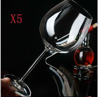 New 5X Capacity 855ML  Height  249MM  Transparent  Red Wine Glass/Glassware %