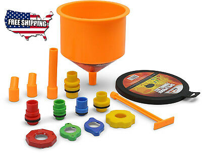 Spill Free Funnel Kit Cooling System Fill Tools Car Radiator Coolant Filling New