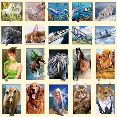 5D DIY Diamond Painting Embroidery Animals Flower Cross Crafts Stitch Kit Decors