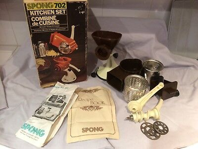 vintage retro spong 702 kitchen set mincer, slicer,grater