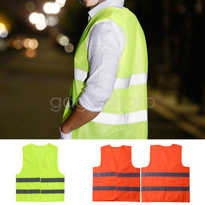 Safety Hi Vis Children Waistcoat Vest Grey Reflective Strips Traffic Clothes Hot