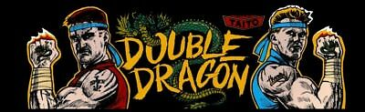 Double Dragon Arcade Marquee – 26″ x 8″