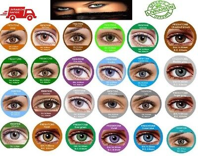 Color Contact Lenses * Lentilles de couleur * 1 year * * FRESHTONE