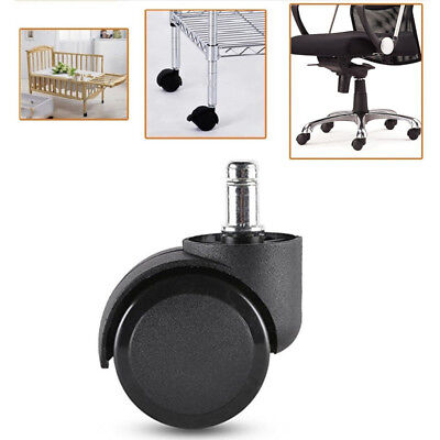 2 Inch 50mm Black Rolland Furniture Office Chair Caster Wheel For Hardwood Floor