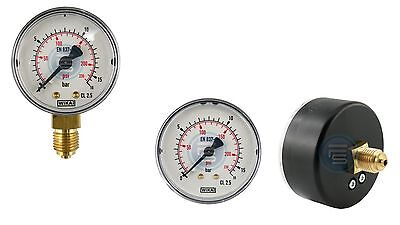 """Vertical and Horizontal Manometer for Vacuum G1/8 """" G1/4 """" 40,50, 63mm Small"""