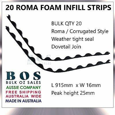 Bos | Roma Infill Strips - 20 Pack - Foam Corrugated Roofing Strip Weather Tight