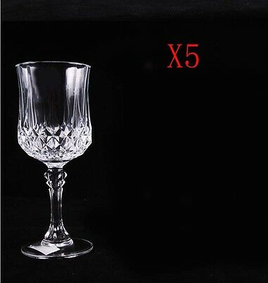 New 5X Capacity 250ML  Height  184MM  Transparent  Red Wine Glass/Glassware %