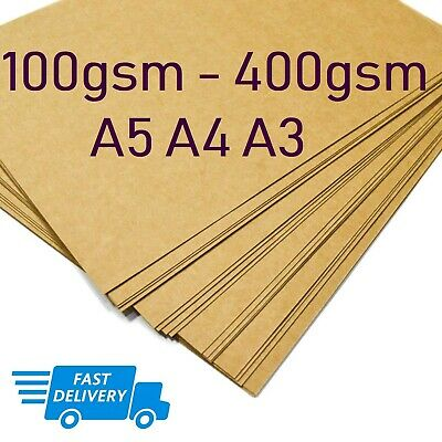A3 A4 A5 BROWN KRAFT CARD BLANK SHEETS PAPER CRAFT GIFT TAG BAG LABEL 170 300gsm