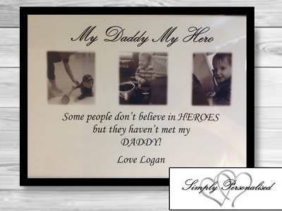 Personalised Daddy Christmas Gifts Birthday Step Dad Fathers Day Hero