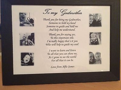 Personalised Godmother Gifts Godfather Godparents Thank You