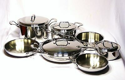 Vita Craft 5-Ply Clad Stainless Cookware Set Ultimate Chef's Set Made In Usa!