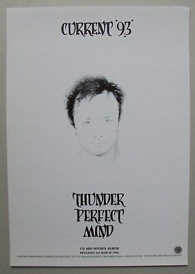 Current 93 Thunder Perfect Mind Release Poster A3 1992