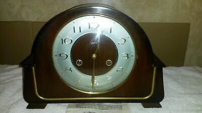 Smith's Vintage 8-Day Mantle Clock For Spares or Repair 1940's/50's