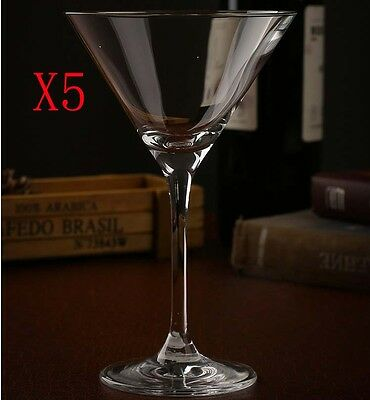 New 5X Capacity 230ML Height 190MM Transparent Cocktail Wine Glass/Glassware %