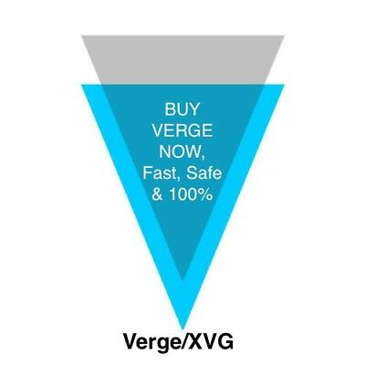 Verge xvg Coin, 10-1000+ XVG Crypto Currency, Pro Trader, Direct Transfer
