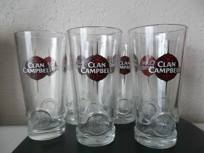 Clan Campbell  WHISKY 6 Verres tubes 22 cl NEUF No Ricard (4)