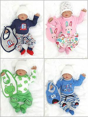 NEW 4tlg Set Baby Starterset First Outfit Romper 56 62 68 74 englandmode