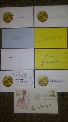 Nobel Prize Receivers authentic autographs collection lot