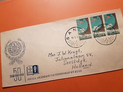 SOUTH AFRICA 1960 cover 50 years ACADEMY OF ARTS & SCIENCES Special Cancel SANEA