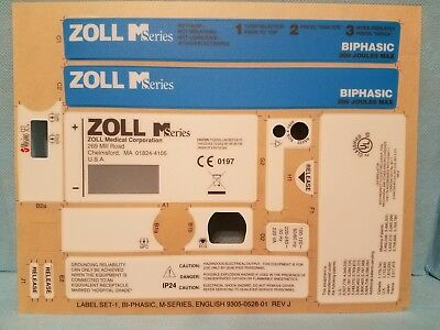 Zoll M-Series Label Set - 9305-0528-01 NEW