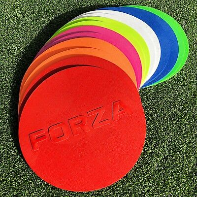 "FORZA Flat Disc Markers (10qty) [7"" Diameter] – Any Colour! [Net World Sports]"
