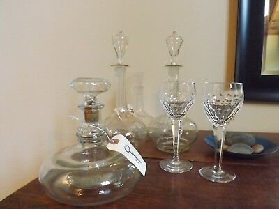 Assorted Glass Decanters and Crystal