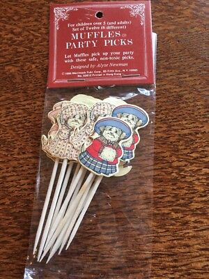 Vintage Muffles Party Picks 12 In Pack