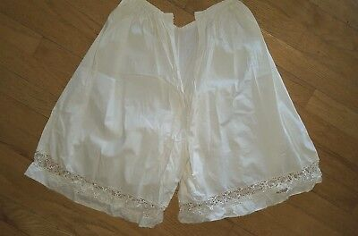 Antique Victorian Edwardian undergarment cotton Bloomers Pantaloons white