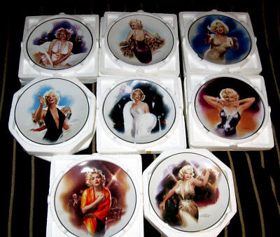 "Marilyn Monroe Plates ""The Magic Of Marilyn"", 8 Plates Total, Free Shipping"