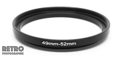 49mm to 52mm 49-52 Step-Up Stepping Ring Filter Adapter - UK Stock