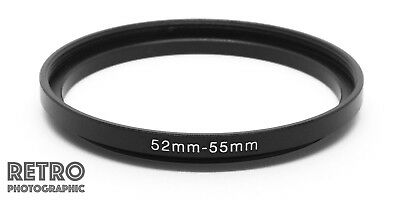 52mm to 55mm 52-55mm Step-Up Stepping Ring Filter Adapter - UK Stock