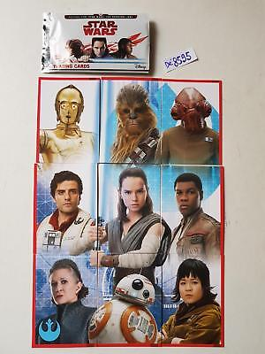 "(33) lot des 09 Cartes STAR WARS TOPPS trading formant un ""puzzle""  Dé 8595"