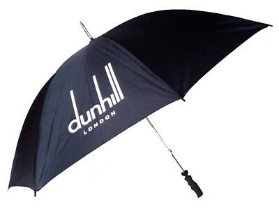 Golf Umbrella in Black with Branding on Panels