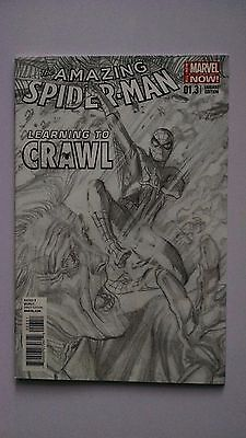 Amazing Spider-Man #1.3 1:200 Alex Ross Black & White Sketch Variant NM 9.4+