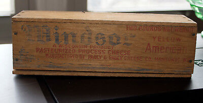Windsor Yellow American Cheese Wooden Box With Lid