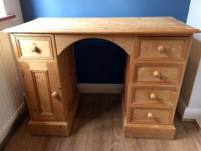 Beautiful solid wood pine desk dressing table upcycle project shabby chic