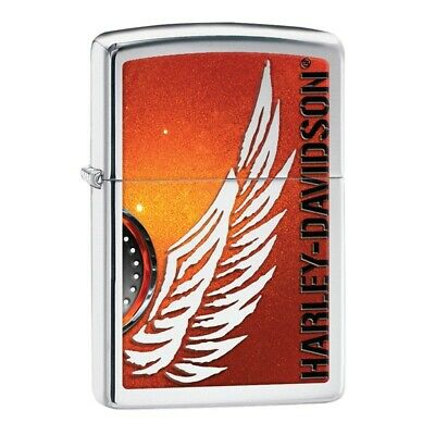 Zippo Accendino Harley Davidson 28977*made In Usa*nuovo*lighter*official