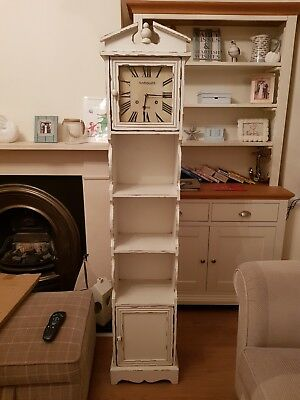 Shabby Chic Grandfather Clock With Storage
