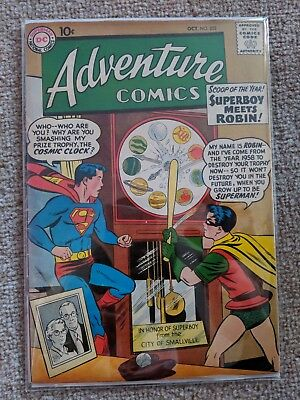 Adventure Comics #253 1958 Key Issue 1st Meeting Superboy And Robin FN+