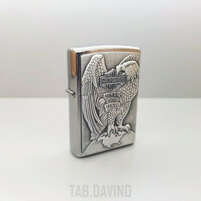 Zippo Accendino Harley Davidson 200Hd H231 Eagle*made In Usa*lighter*official