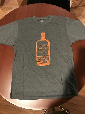 Bulleit Bourbon Gray w/ Orange Mens T-Shirt. Size X-Large. Brand New.