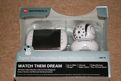 Motorola Digital Video Baby Monitor (Model: MBP36): watch the dream, fully boxed
