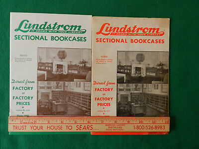 Vintage Lundstrom Sectional Bookcase Catalog  Pair 1950 1952 Two Catalogs