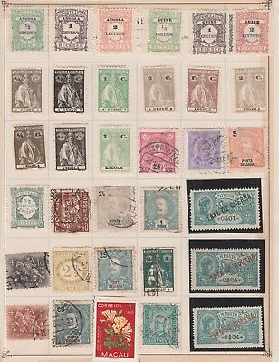 ANGOLA, Macaw, Portugal, Guine, Collection, etc On Old Pages USED #