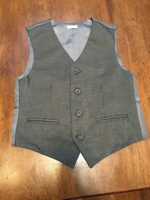 Boys Gray Dress Vest Calvin Klein 10 Regular, Gently Worn