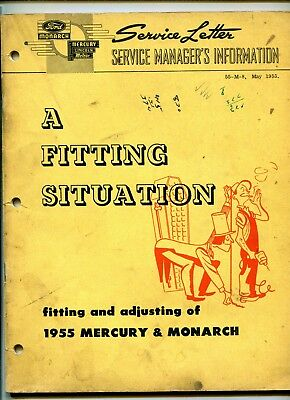 Mercury & Monarch 1955 Fitting & Adjusting Manual - Service Letter