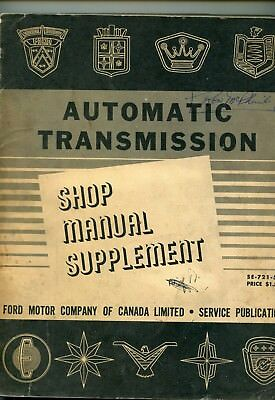 Lincoln Mercury & Monarch  1951 - 59 Automatic Transmission Manual
